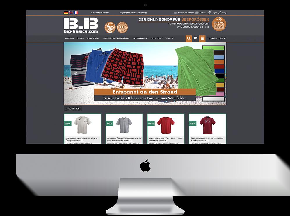 Referenz Mac bigbasics webshop