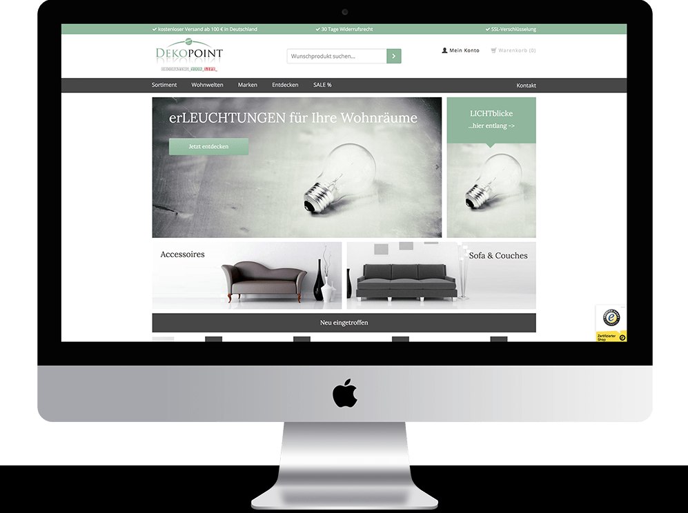 Referenz Mac dekopoint webshop