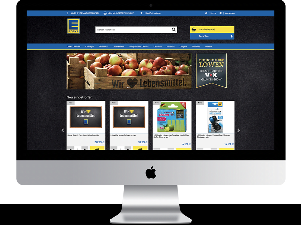 Referenz Mac edeka webshop