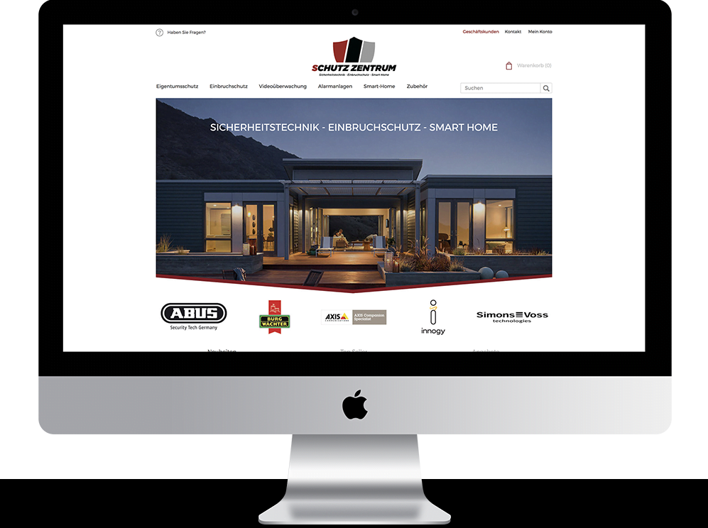 Referenz Mac schutzzentrum webshop