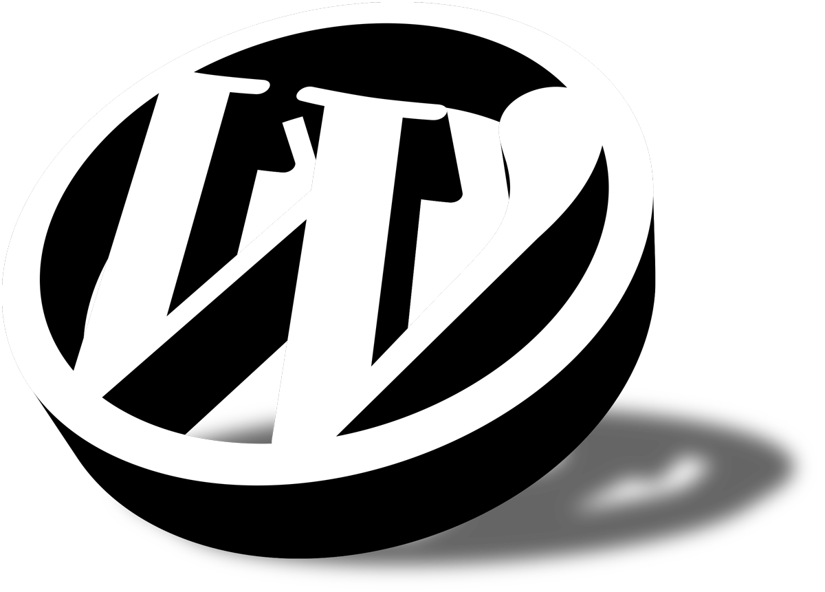 wordpress icon 3D schatten