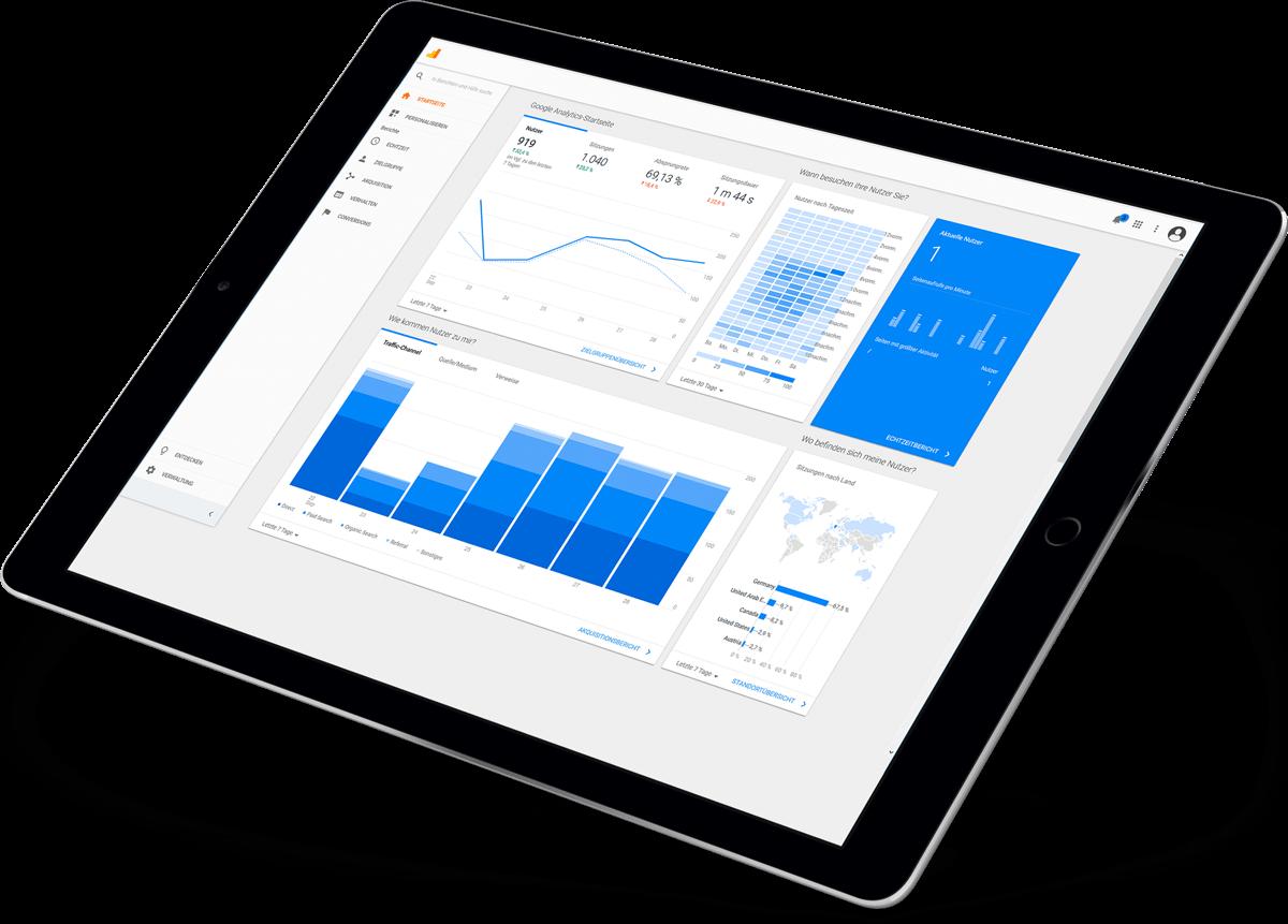tablet übersicht analyse screenshot