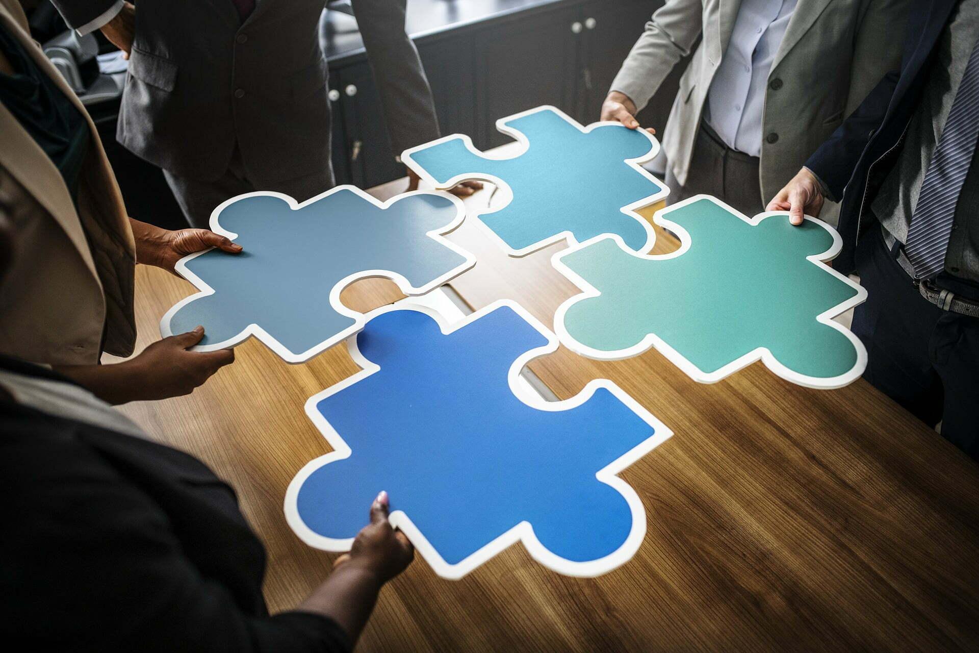 Strategie und Taktik Puzzle