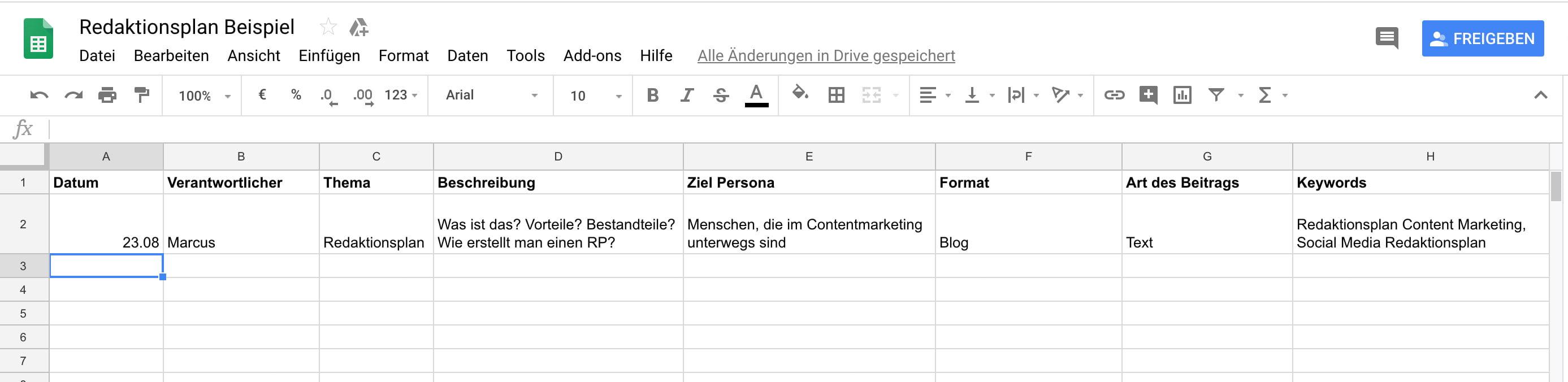 Redaktionsplan-Beispiel